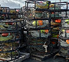 Half Moon Bay Crabpots by Scott Johnson