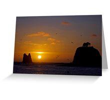 sunset at la push, wa, usa Greeting Card