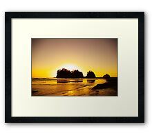 sunset gold, james island, washington, usa Framed Print