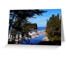 ruby beach, washington, usa landscape Greeting Card