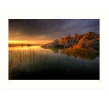 Willow Rock Sunset Art Print