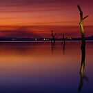 Darkness over Lake Hume 2 by John Vandeven