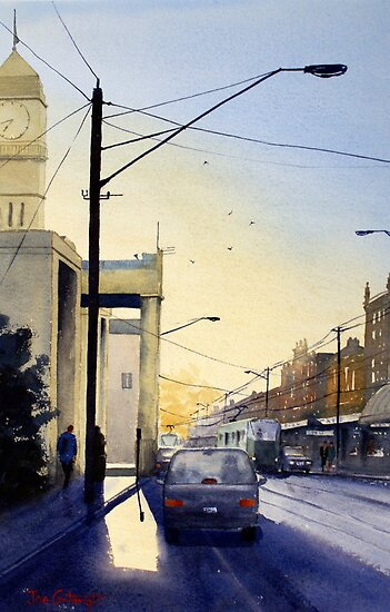 Sunrise over Richmond Town Hall, Melbourne by Joe Cartwright