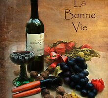 Wine and grapes - La Bonne Vie by steppeland-2