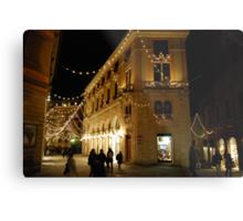 Christmas in Siena-Tuscany Metal Print