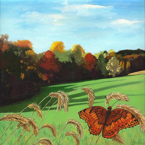 quotrolling hills fall landscape oil paintingquot by