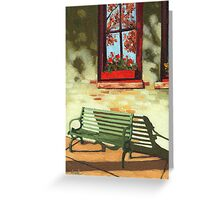 Empty Bench - oil painting Greeting Card