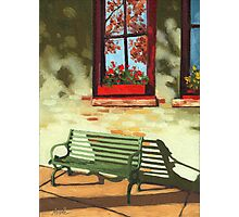 Empty Bench - oil painting Photographic Print