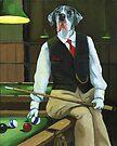 """Mr. Thomas Tudor"" - great dane portrait by LindaAppleArt"