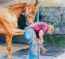 Horse and Farrier by Yvonne Carter