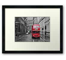 Red Bus Framed Print