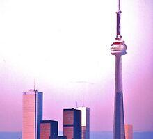 CN Tower and Downtown, Toronto by David Davies