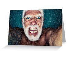 Bad Santa Greeting Card