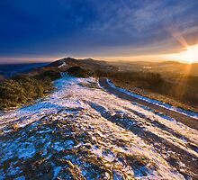 Malvern Hills: Winter Sunset by Angie Latham