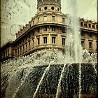 Textured CityScape Genova, fountain  by Francesco Malpensi