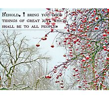 Good Tidings of Great Joy (Card) Photographic Print
