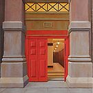 Behind the Red Door (study), Oil on Linen, 38x34.5cm. by Jason Moad