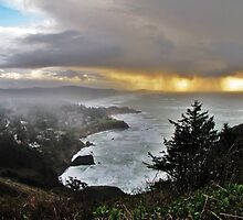 Incoming. Oregon Coast. Outside Depoe Bay...Otter Crest by trueblvr