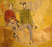 Couple on a Bench by Jeffrey DeVore