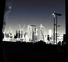 City view from Cultural Centre Busway by technokitty
