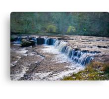 The Upper Falls - Aysgarth. Canvas Print