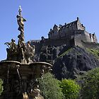 Edinburgh Castle and Ross Fountain by ljm000