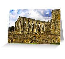 Rievaulx Abbey - North Yorkshire. Greeting Card