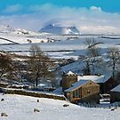 Towards Ingleborough. Winter, Lancashire, England by David Dutton