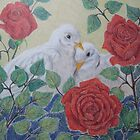 Doves and Roses by Susan Genge