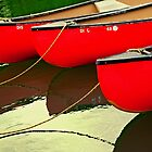 Red Canoes by Sarah Beard Buckley