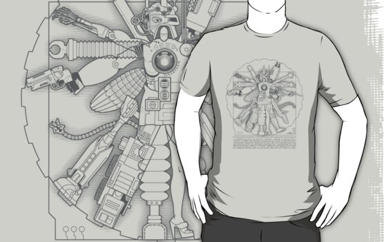 Vitruvian Machine (Gray) by Captain RibMan