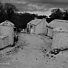 Snowbound - Reconstructed Farm at Cultra, County Down by Laura Butler