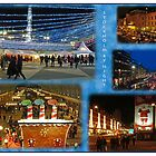 Stockholm by night collage by Paola Svensson