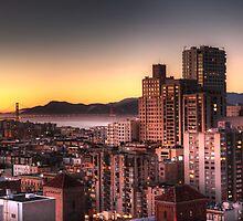San Francisco at Sunset by Katie Keller