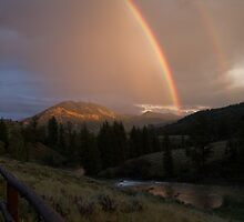 Double Rainbow over the Hoback River by Gary Siemer