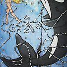 Orcas on the Moon by Katz Karma