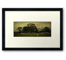 How much land does a man need? Framed Print