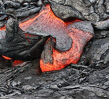 lava breaking out of rock 2 by Flux Photography