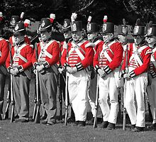 Thin Red Line - Battle of Waterloo by chris-csfotobiz