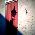 French Quater Street Lamp Shadow by UncleBug