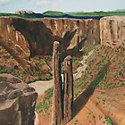 Spider Rock Arizona Greeting Card by Barbara Applegate