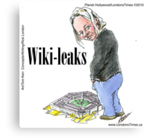 Wiki Leaks by Londons Times Cartoons Canvas Print