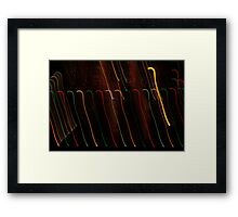 Suburb Christmas Light Series - Colour Canes Framed Print