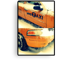 taxi in the snow Canvas Print