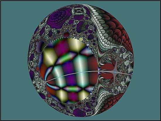 MandelEgg Ornament  (UF0057) by barrowda