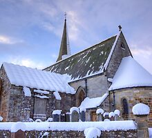 Borthwick Parish Church In Winter by Lynne Morris