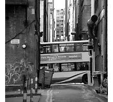 Glasgow - The bus Photographic Print