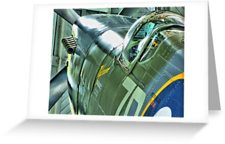 Spitfire  MH434 - OFMC`s Christmas Card 2011  by Colin J Williams Photography