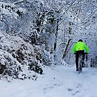 Cyclist in the Snow by KathO