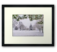 White And Wintery At Peel Park, Bradford Framed Print